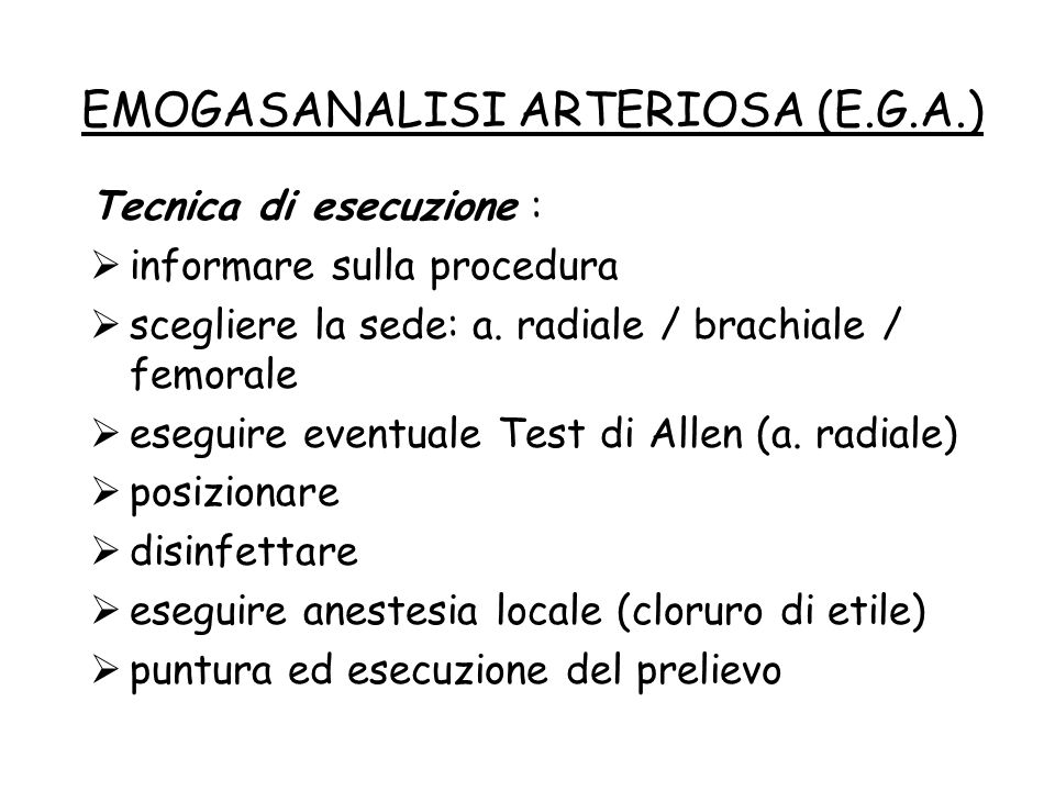 EMOGASANALISI ARTERIOSA (E.G.A.)