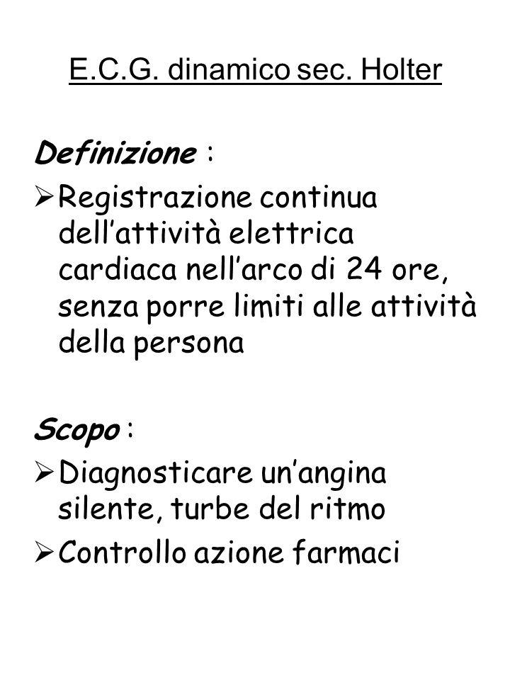 E.C.G. dinamico sec. Holter