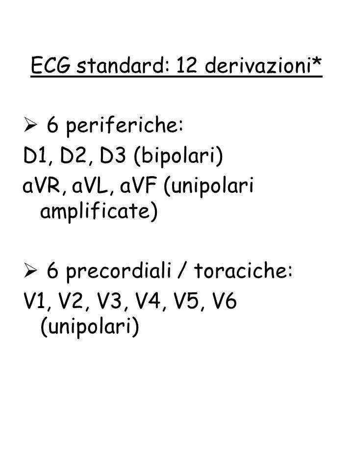 ECG standard: 12 derivazioni*