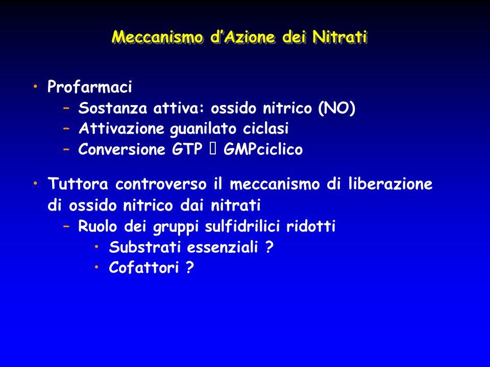 Meccanismo d'Azione dei Nitrati