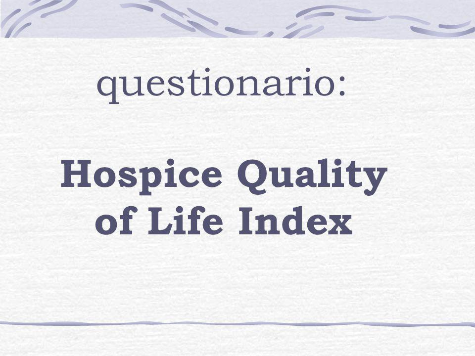 Hospice Quality of Life Index