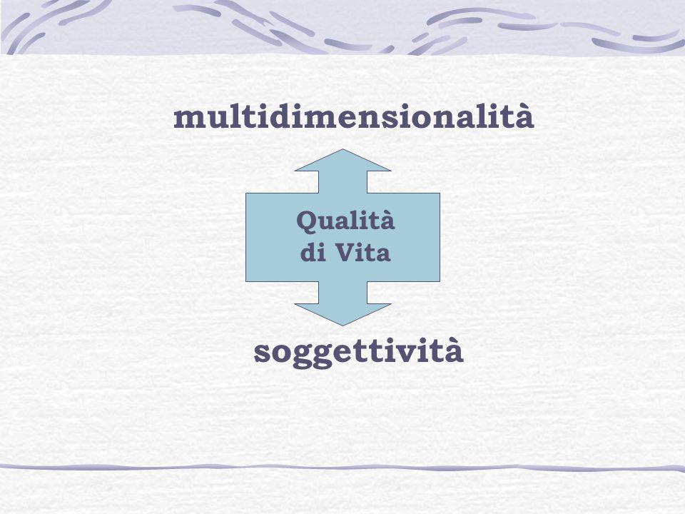 multidimensionalità Qualità di Vita soggettività