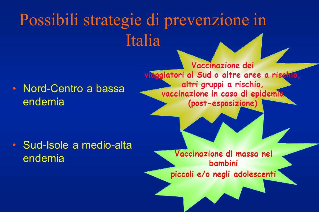 Possibili strategie di prevenzione in Italia