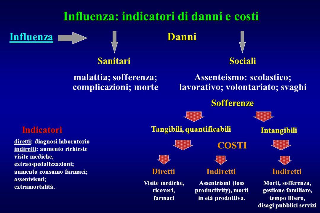 Influenza: indicatori di danni e costi