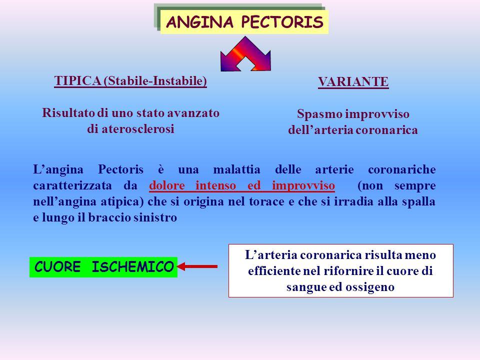 ANGINA PECTORIS TIPICA (Stabile-Instabile) VARIANTE
