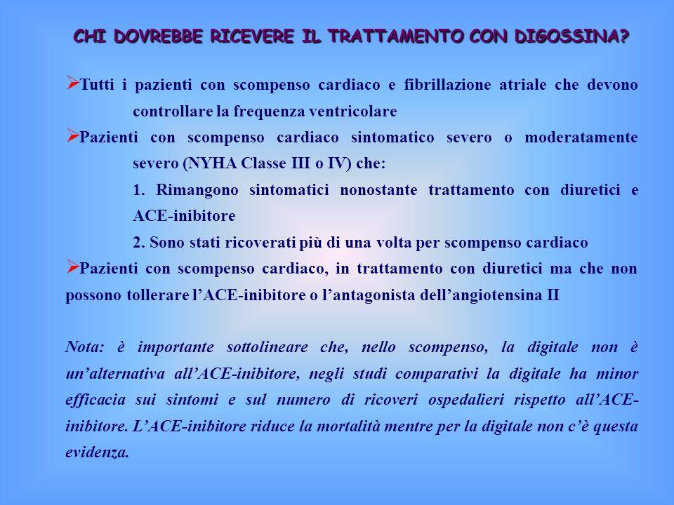 CHI DOVREBBE RICEVERE IL TRATTAMENTO CON DIGOSSINA