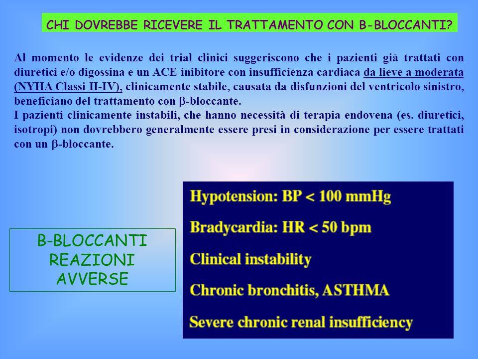 B-BLOCCANTI REAZIONI AVVERSE