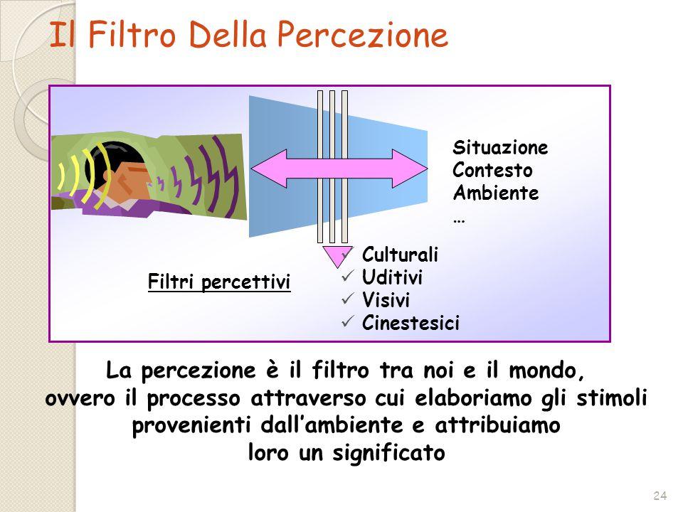 Il Filtro Della Percezione