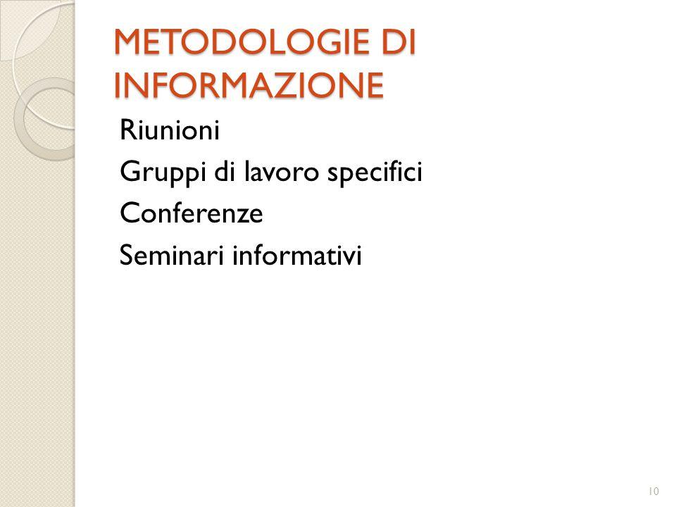 METODOLOGIE DI INFORMAZIONE