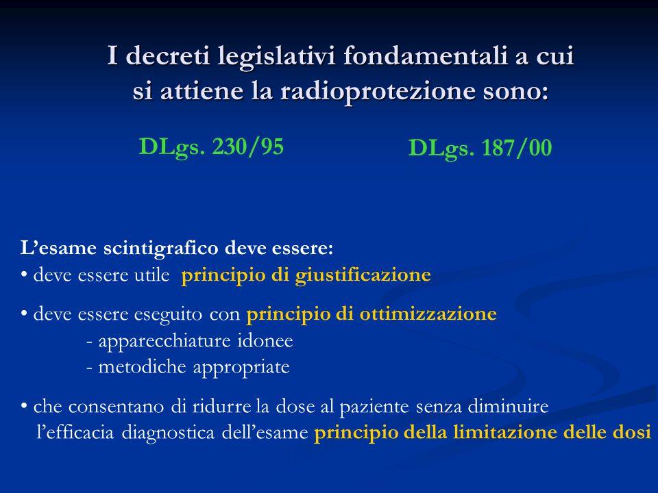 I decreti legislativi fondamentali a cui si attiene la radioprotezione sono:
