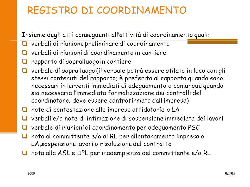 REGISTRO DI COORDINAMENTO