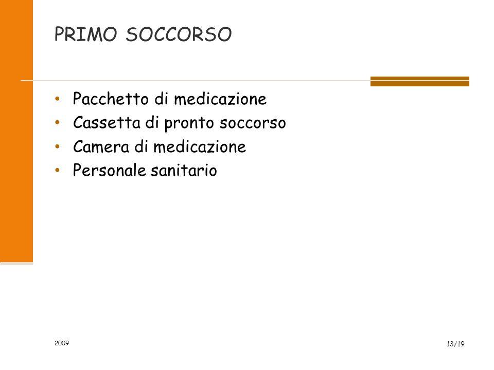 PRIMO SOCCORSO Pacchetto di medicazione Cassetta di pronto soccorso