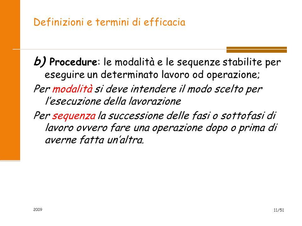 Definizioni e termini di efficacia