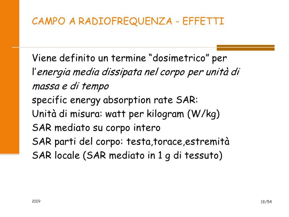 CAMPO A RADIOFREQUENZA - EFFETTI
