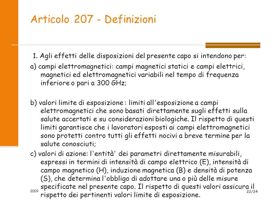 Articolo 207 - Definizioni