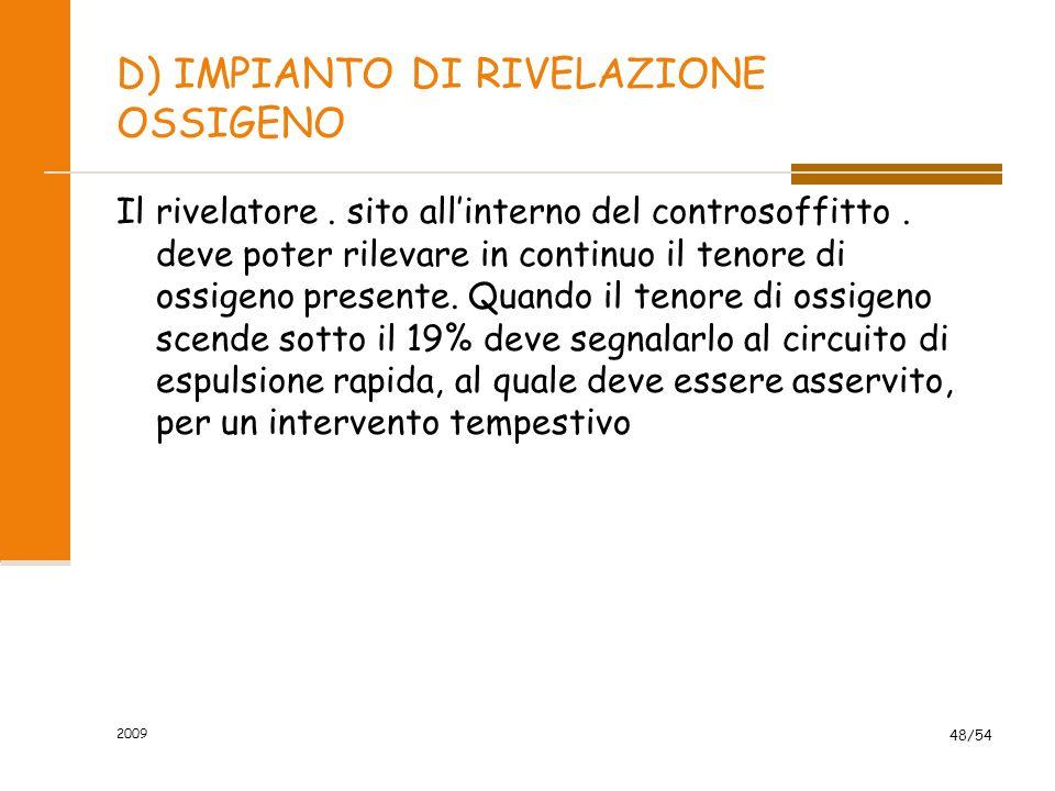 D) IMPIANTO DI RIVELAZIONE OSSIGENO