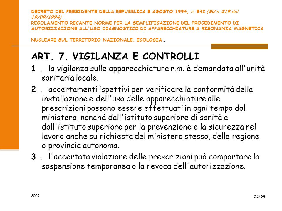 ART. 7. VIGILANZA E CONTROLLI