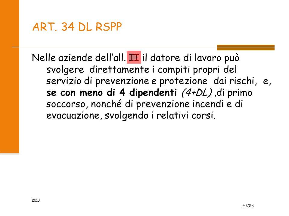 ART. 34 DL RSPP