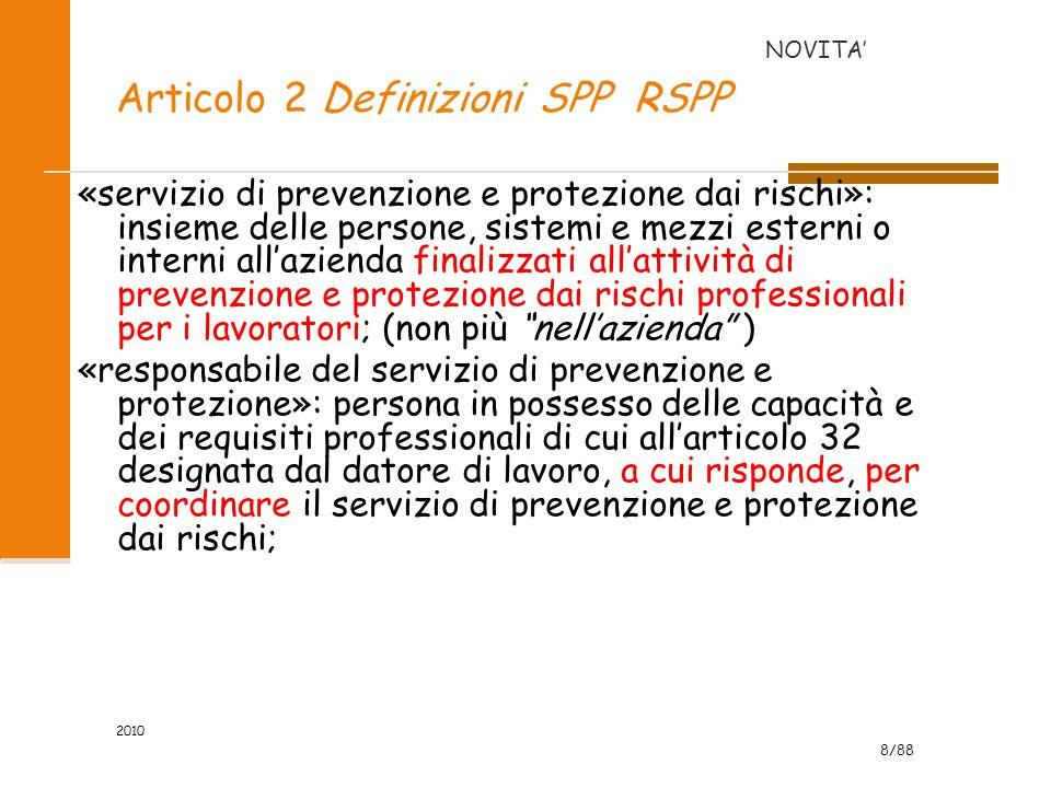 Articolo 2 Definizioni SPP RSPP