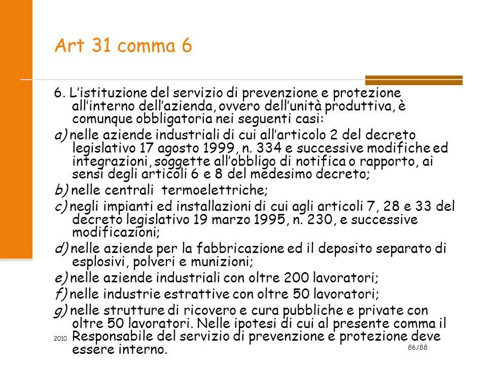 Art 31 comma 6