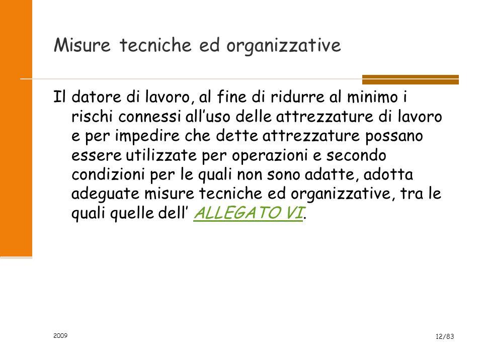 Misure tecniche ed organizzative