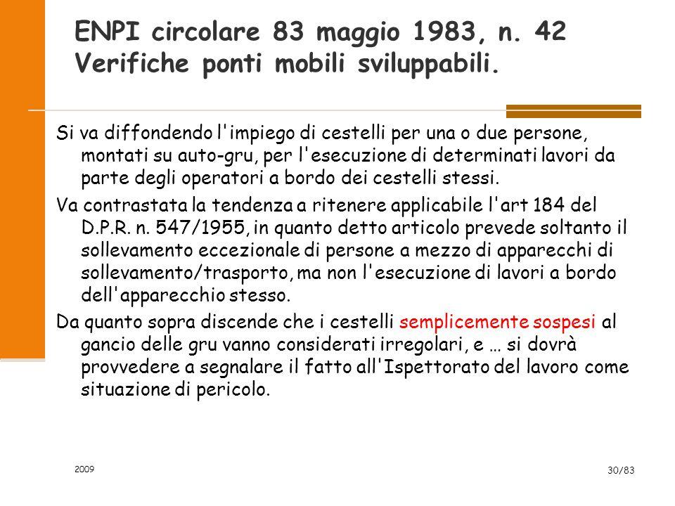 ENPI circolare 83 maggio 1983, n