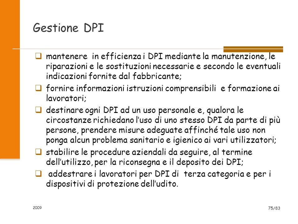 Gestione DPI