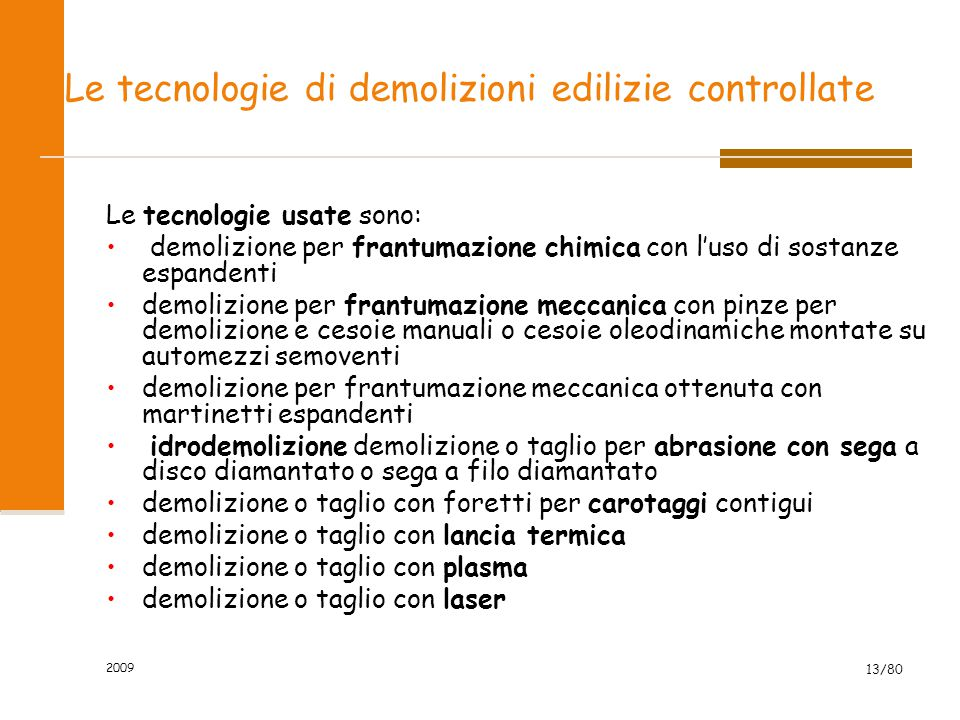 Le tecnologie di demolizioni edilizie controllate