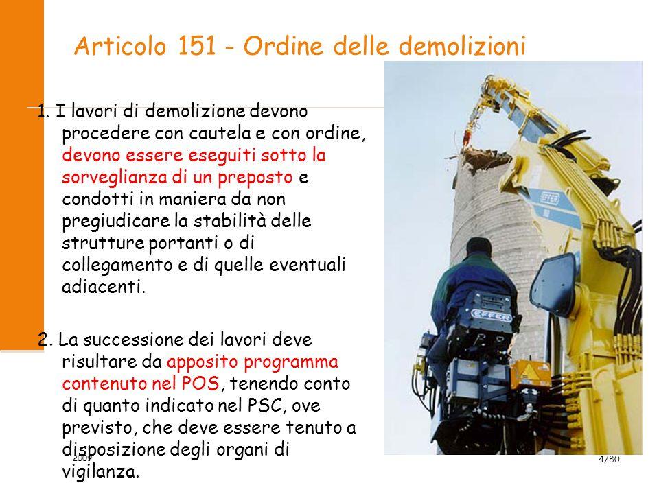 Articolo 151 - Ordine delle demolizioni