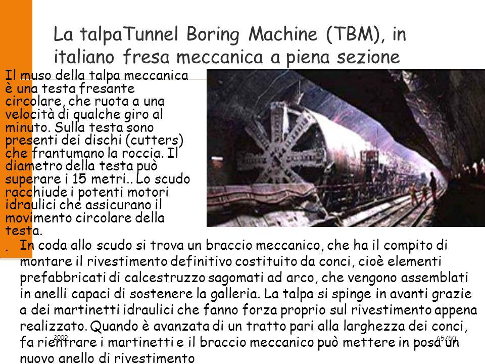 La talpaTunnel Boring Machine (TBM), in italiano fresa meccanica a piena sezione