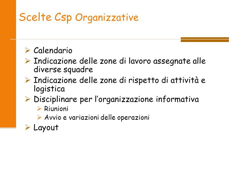 Scelte Csp Organizzative