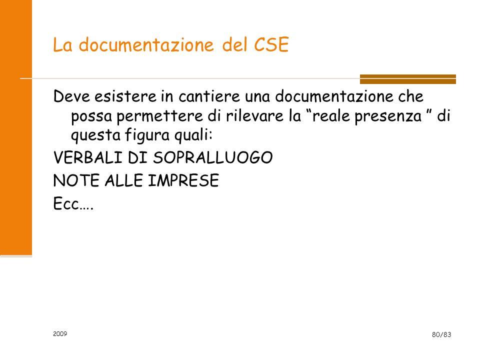 La documentazione del CSE
