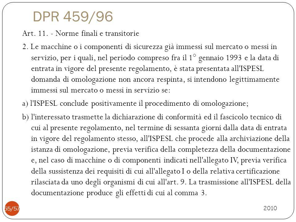 DPR 459/96