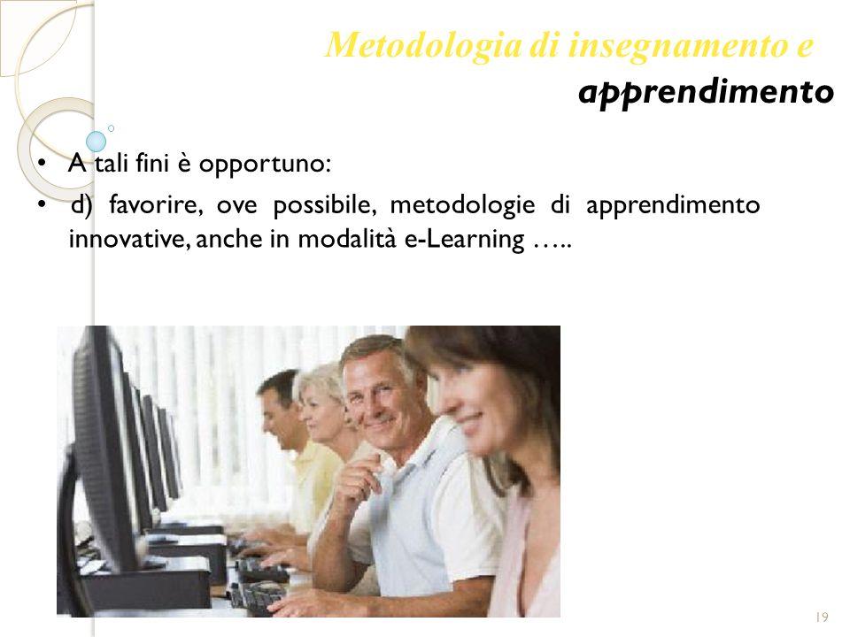 Metodologia di insegnamento e apprendimento