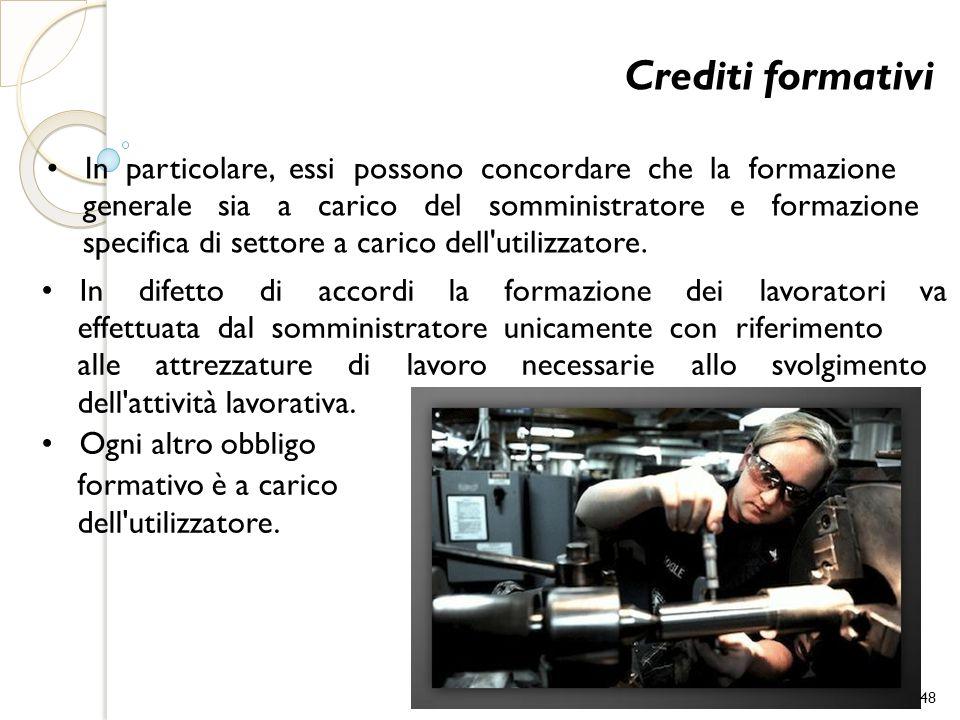 Crediti formativi • In particolare, essi possono concordare che la formazione.