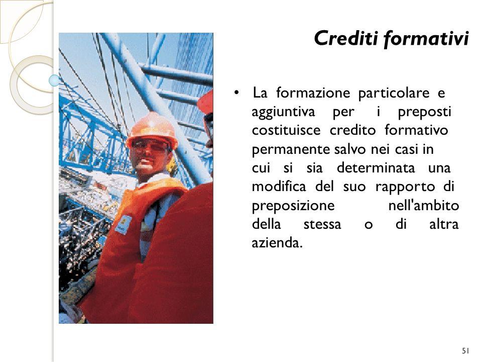 Crediti formativi • La formazione particolare e