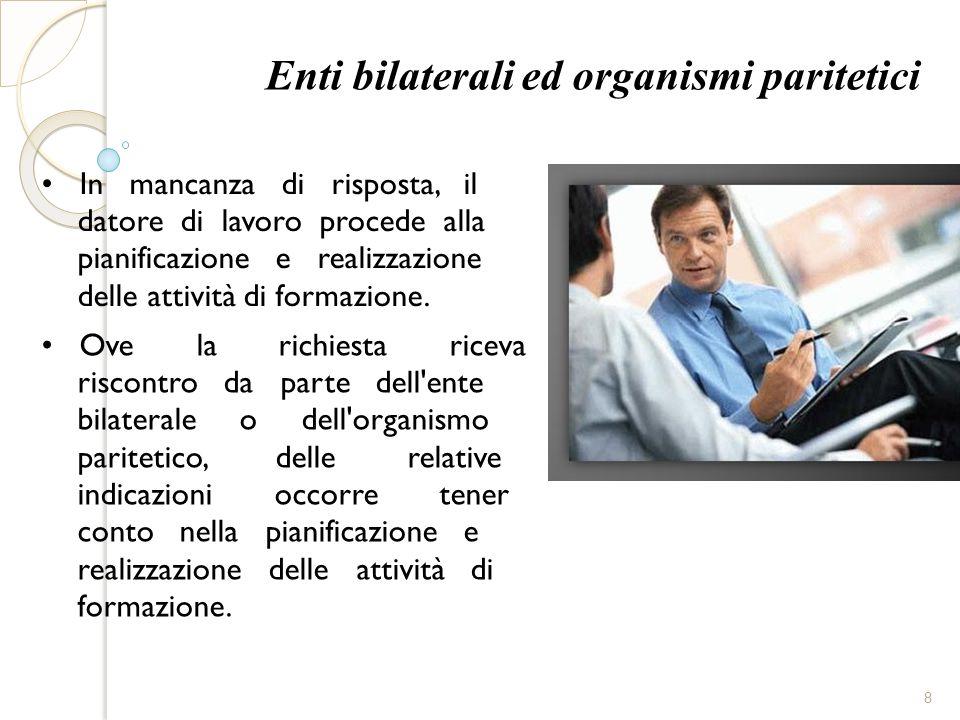 Enti bilaterali ed organismi paritetici