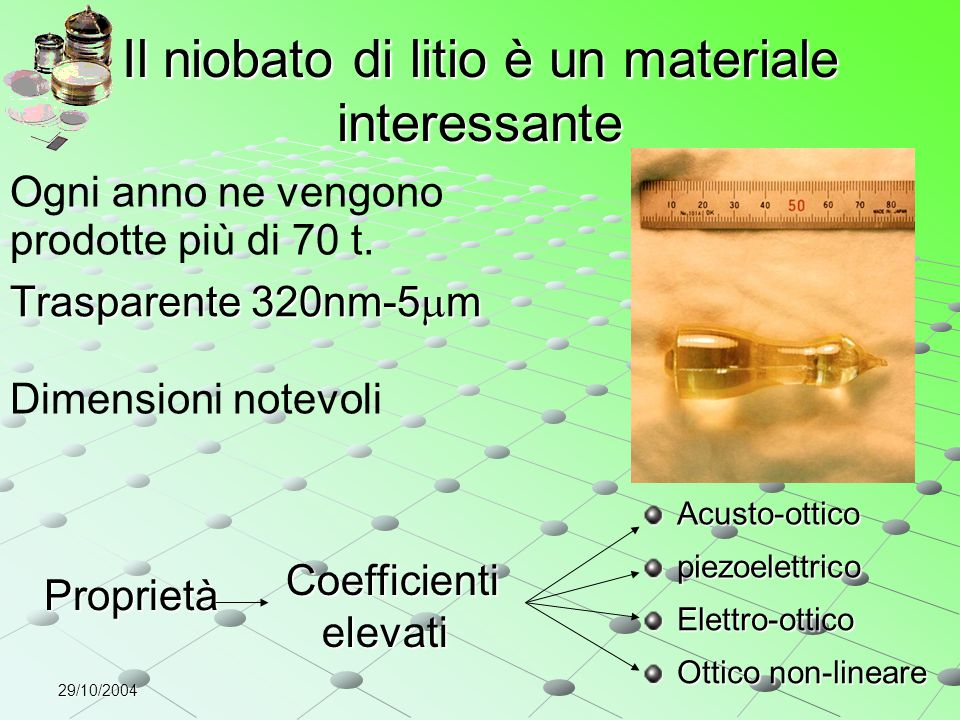 Il niobato di litio è un materiale interessante