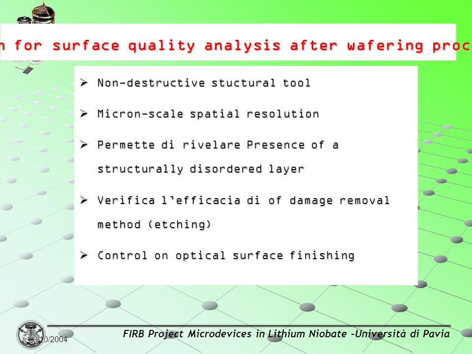 mRaman for surface quality analysis after wafering process: