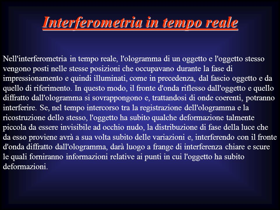 Interferometria in tempo reale