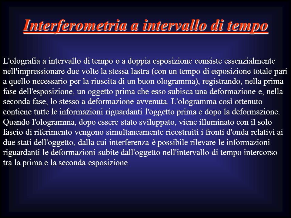 Interferometria a intervallo di tempo