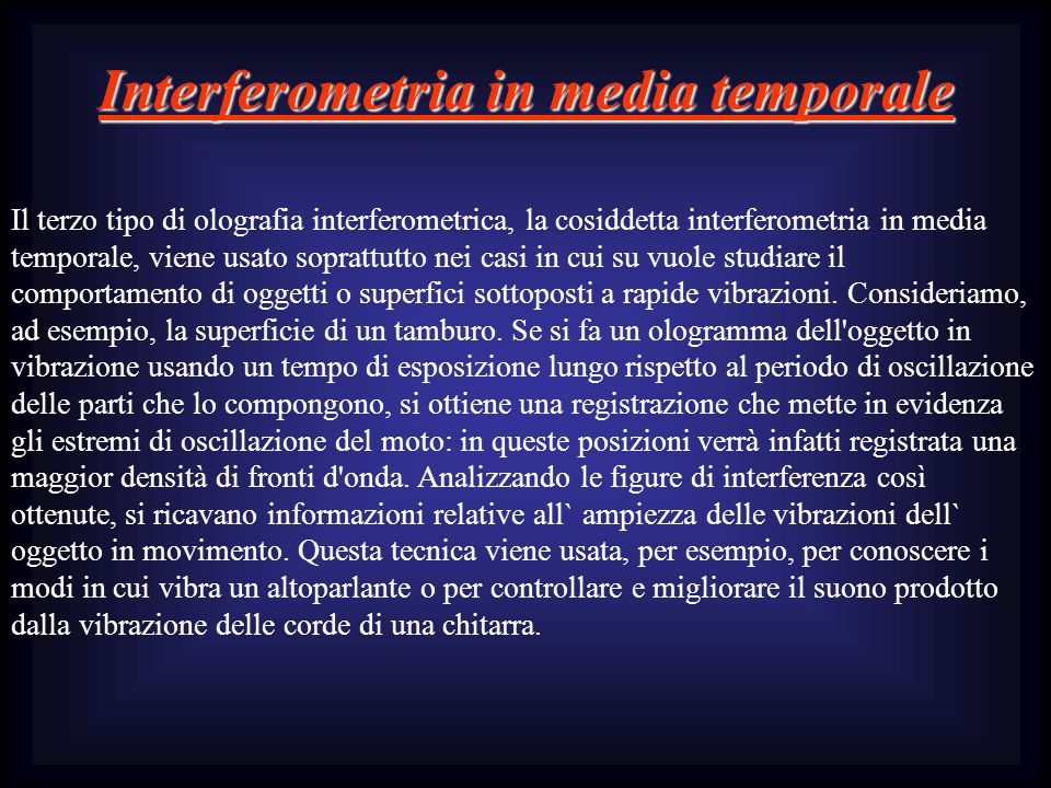 Interferometria in media temporale