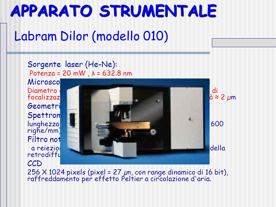 APPARATO STRUMENTALE Labram Dilor (modello 010)
