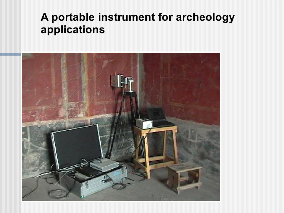 A portable instrument for archeology applications