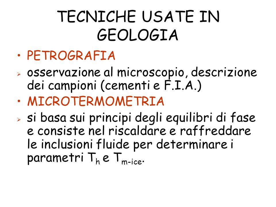 TECNICHE USATE IN GEOLOGIA