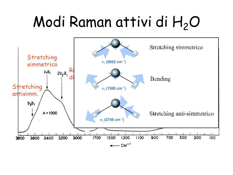 Modi Raman attivi di H2O Stretching simmetrico Risonanza di Fermi