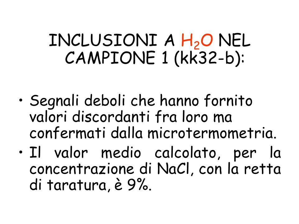 INCLUSIONI A H2O NEL CAMPIONE 1 (kk32-b):