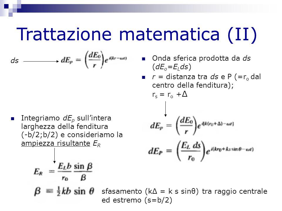 Trattazione matematica (II)