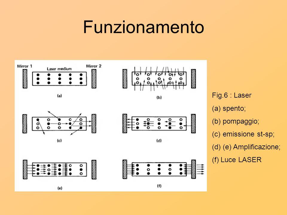 Funzionamento Fig.6 : Laser spento; pompaggio; emissione st-sp;