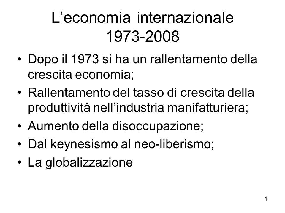 L'economia internazionale 1973-2008